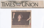 Times Union Newspaper - Susan sang the National Anthem & was the speaker at her graduation ceremony.