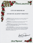 Proclamation City of Rosemead