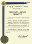 Proclamation - City of Fountain Valley