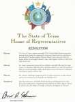 Congressional Resolution - The State of Texas
