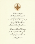 Invitation to attend President George W Bush Inauguration