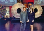 Susan with the host of CA Big Spin Lottery TV Show.