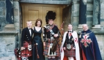 Knighted in Scotland by Prince Michael. Standing in front of Sterling Castle in Scotland after being Knighted.