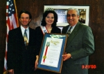 Receiving Proclamation from the California State Assemblyman