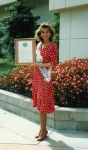 Susan Jeske - Miss Orange County 1987 Recieving Proclamation from Orange County Supervisors