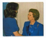 Meeting Prime Minister of Great Britian - Margaret Thatcher before singing the National Anthem at the San Diego Conventi