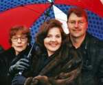 Presidential Inauguration-Opening Ceremony-Mom, Susan and brother Mike. The day before singing at various Inaugural Even