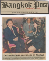 Meeting the Prime Minister of Thailand