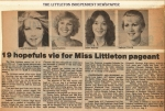 Littleton Independent - Contestants competing in the Miss Littleon 1983 Pageant