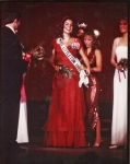 Being crowned Miss Littleton 1983
