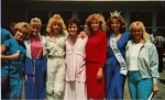 Appearance with former Miss America, Lee Meriwether and the contestants from the Miss Orange County 1987 Pageant