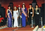 Susan Jeske winning Ms. California State 1996 with the queens court.