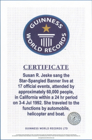 Guinness Book of World Record Certificate
